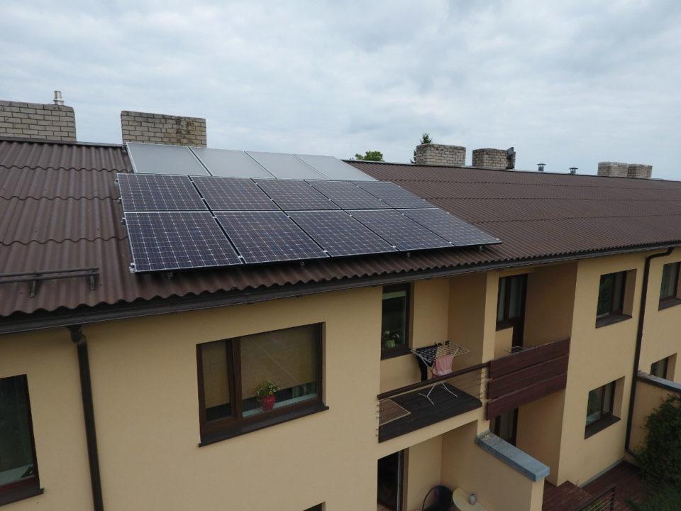 Ridaelamu Harjumaal kollektorsüsteem 10x300Wp päikeseelektrijaam Inverter Fronius